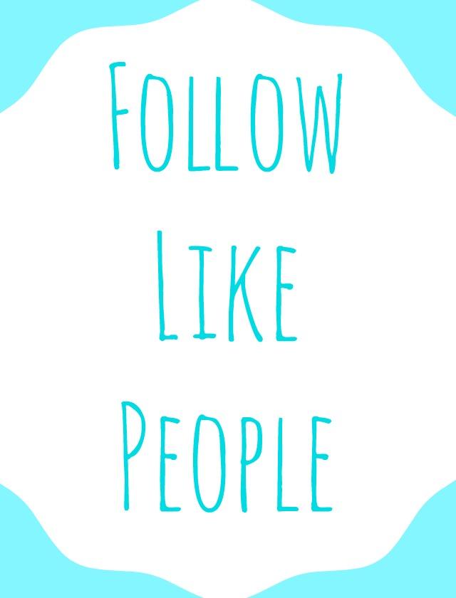 Follow Like People Twitter